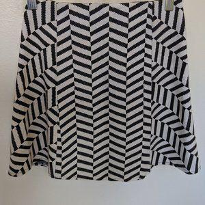 Chevron Black-and-white Skirt